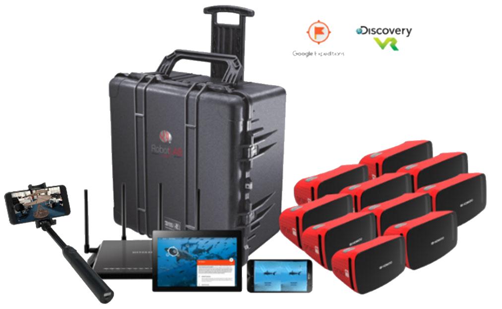 VR-AR kit with Transport Case